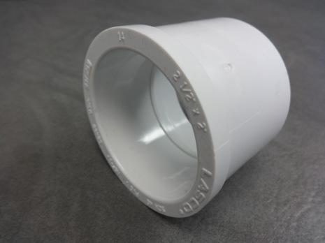 """PVC Bustning/Förminskning 2,5""""-2"""" CS"""