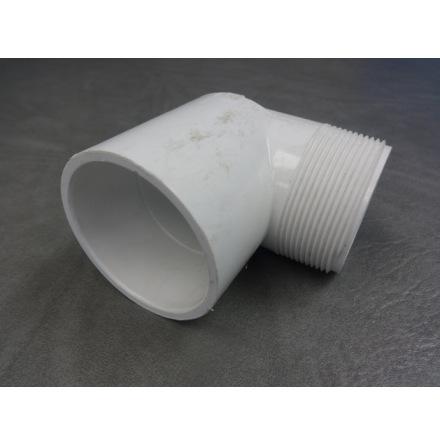 "PVC Vinkel 90 gr 2"" hona/gänga CS"