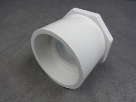 """PVC Bustning / Förminskning 2 1/2"""" -1 1/2"""" hona/hane CS"""