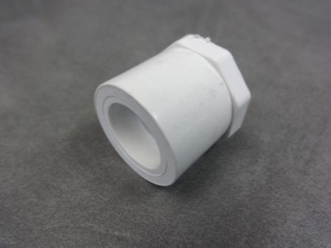 """PVC Bustning / Förminskning 1"""" -1/2"""" hane/inv gänga CS"""