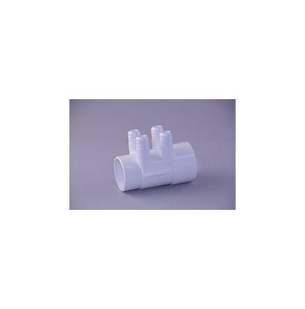 """PVC grenrör 1/2"""" 4x3/4"""" portar"""