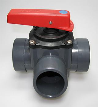 PVC Ventil 50mm 3-väg