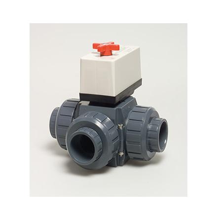 PVC Ventil 50mm 3-väg elektrisk 230v