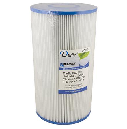 Filter 30 sqf 27x15x5cm hål