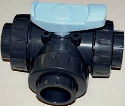 PVC Ventil 63mm 3-väg